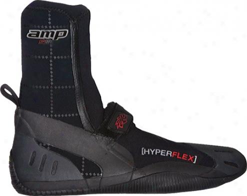 Hyperflex Wetsuits 5mm Amp Round Toe Boot - Black
