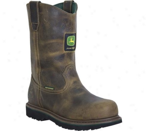 """john Deere Boots 10"""" Waterproof Wellington 4182 (men's) - Aged Oak Waterproof Leather"""