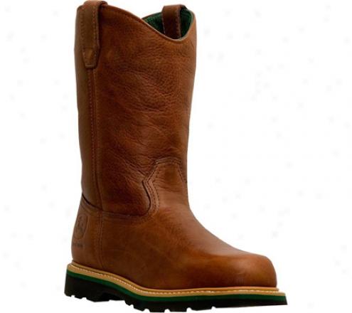 """john Deere Boots 10"""" Waterproof Wellington St 4383"""" (men's) - Dakr Brown"""