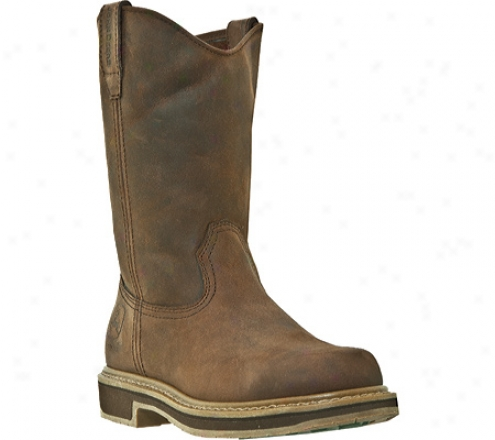 """john Deere Boots 11"""" Unlined Wellington 4104 (men's) - Gaucho Crazy Horse Full Grain Leather"""