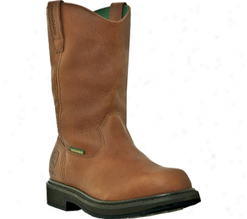 """john Deere Boots 11"""" Waterproof Wellington 4202 (men's) - Maple Waterproof Full Grain Leather"""