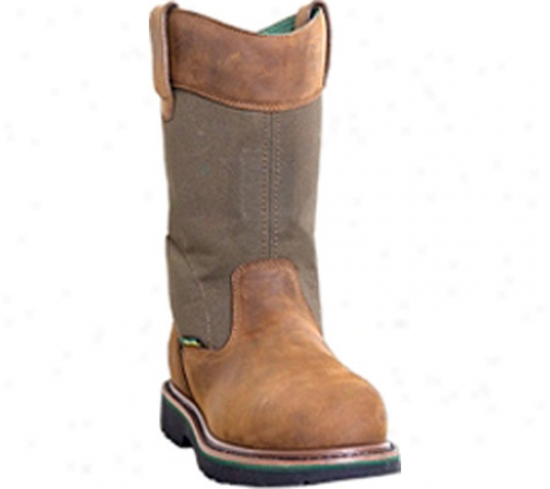 """john Deere Boots 11"""" Waterproof Wellington Safety Toe 4951 (men's) - Brown"""