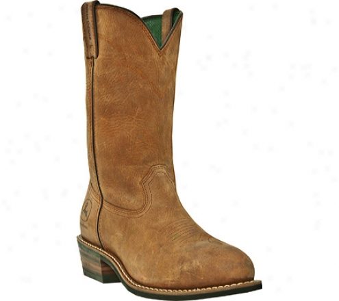 """john Deere Boots 11"""" Wtc Wellington Aged Oak Steel Toe Eh 4692 (men's)"""