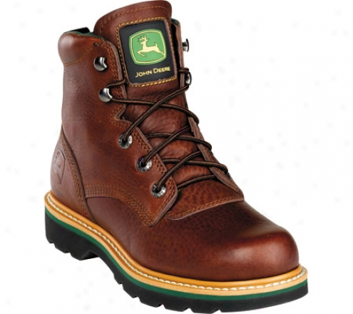 """""""john Deere Boots 6"""""""" Safety Toe Lace-up 6393"""""""" (men's) - Brown Walnut"""""""