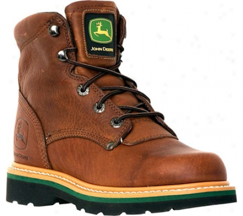 """john Deere Boots 6"""" Safety Toe Lace-ups 6193"""" (men's) - Brown Walnut"""