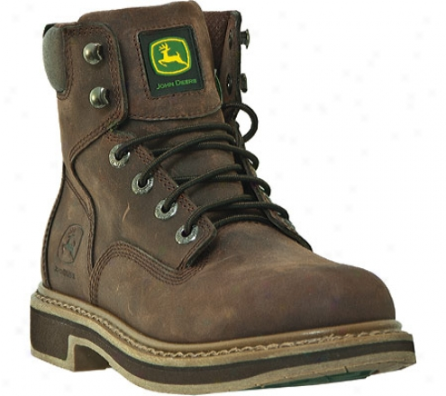 """john Deere Boots 6"""" Unlined Lacer 6104 (men's) - Gaucho Crazy Horse Full Grain Leather"""