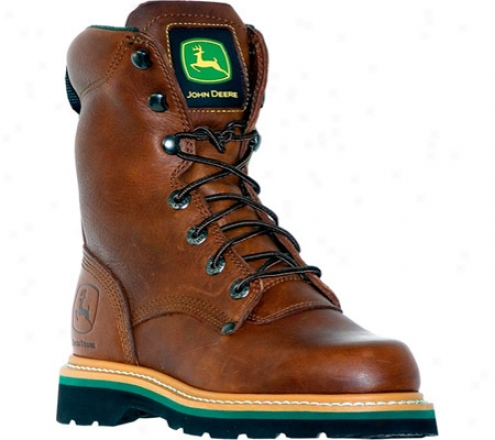 """john Deere Boots 8"""" Lace-ups 8193"""" (men's) - Brown Walnut"""
