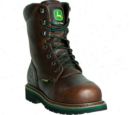 """john Deere Boots 8"""" Steel Toe Lace Up Internal Met Convoy (men's) - Brown"""