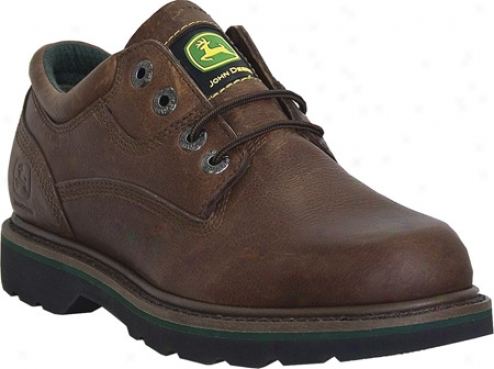 John Deere Boots Oxford 7123 (men's) - Brown Walnut Tumbled/oiled Leather