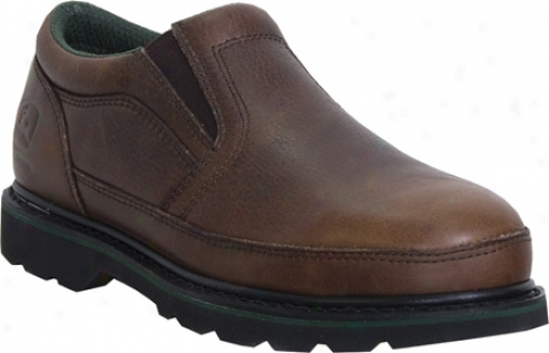 John Deere Boots Safety Toe Twin Gore Slip-on 7325 (men's) - Briar Tumbled/oiled Leather
