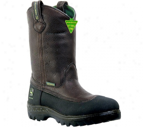 """john Deere Boots Wct 11"""" Safety Toe Wellington (men's) - Brown"""