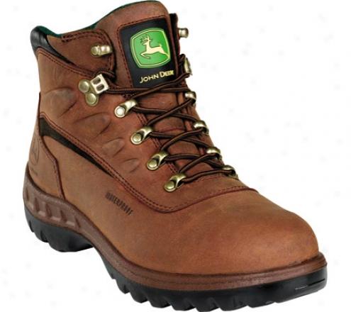 """john Deere Boots Wct 5"""" Waterproof Safety Toe Hiker 3604"""" (men's) - Tan"""