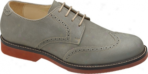 Johnston & Murphy Brennan Wing Tip (men's) - Grey Nubuck