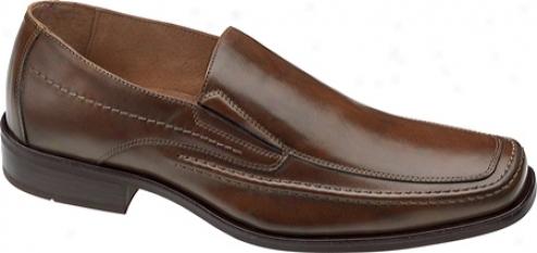 Johnston & Murpny Glenager Moc Slip-on (men's) - Brown Italian Calfskin