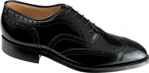 Johnston & Mu5phy Grsenwich (men's) - Black Polished European Cobbler Calf