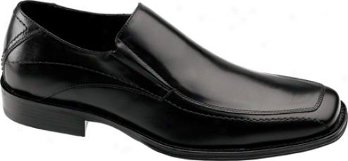 Johnston & Murphy Harding Moc Slip-on (men's) - Black Italian Calf