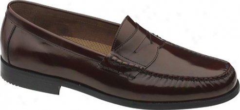 Johnston & Murphy Pannell Pemny (men's) - Burgundy Brushed Calfskin