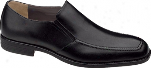 Johnston & Murphy Suffolk Venetian (men's) - Black Waterproof Full Grain