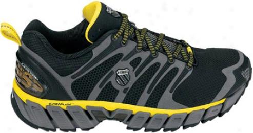 K-swiss Buck Max Trail (men's) - Black/charcoal/bright Yellow
