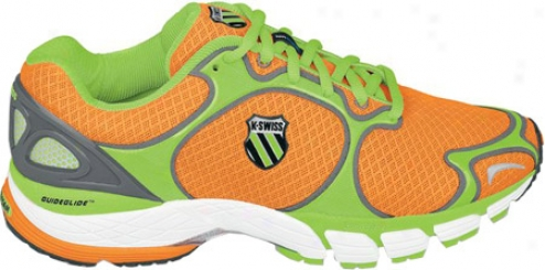 K-swiss California R (men's) - Neon Orange/neon Lime/charcoal