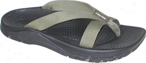 Kalso Earth Shoe Cabo-k Vegan (men's) - Khaki Nylon Strap