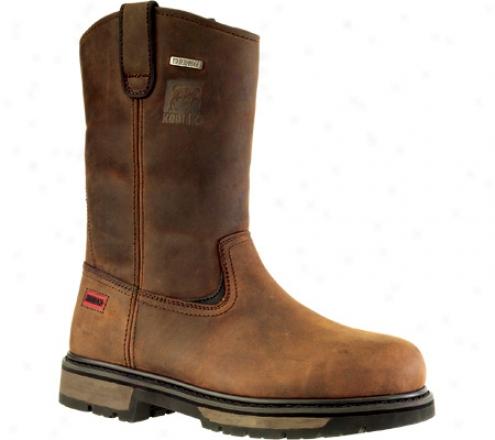 Kodiak Denton Steel Toe Wellington (209012) (men's) - Savory Brown Waterproof Crazy Horse Leather