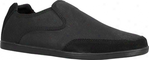 Lugz Juve (men's) - Black Canvas/suede