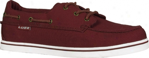 Lugz Marsh (men's) - Burgundy/white Canvas