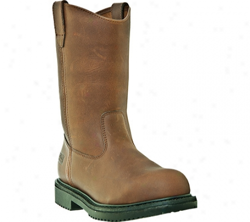 """mcrae Ihdustrial 10"""" Safety Toe Oil Field Wellington Mr85323 (men's) - Brown Tumbled Leather"""