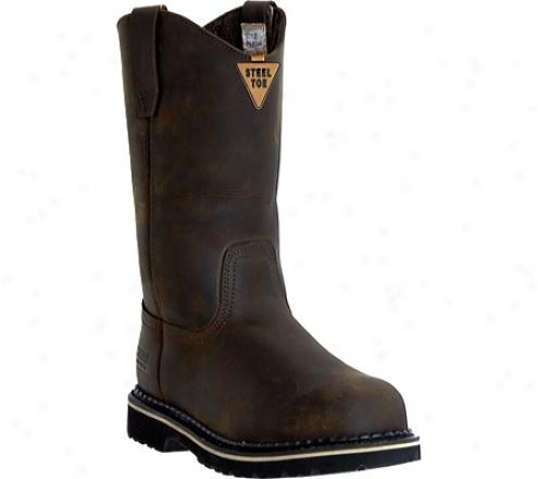 """mcrae Industrial 11"""" Safety Toe Wellington Mr85344 (men's) - Dark Brown"""
