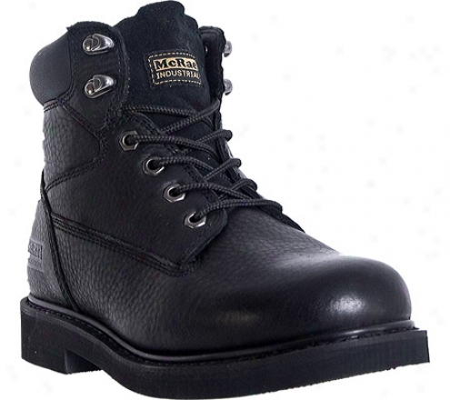 """mcrae Industrial 6"""" Lacer Mr86120 (men's) - Black Tumbled Leather"""