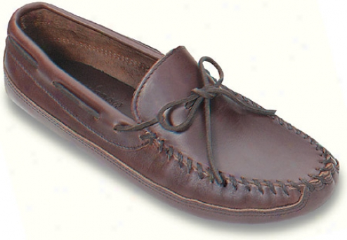 Minnetonka Double Found Softsole (men's) - Dark Brown Lariat