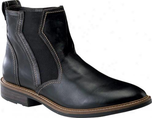 Naot Moment (men's) - Black Raven Leather/black Madras Leather