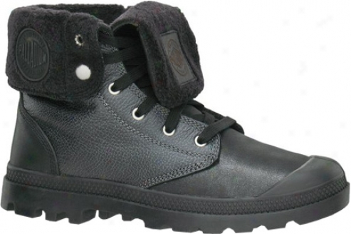 Palladium Baggy Leather Shearling 02356 (men's) - Black/silver