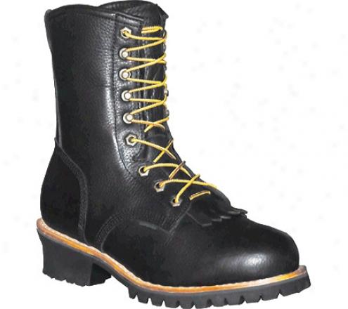 """""""pro Thread Logger Boot 10"""""""" (men's) - Black Full Grain Leather"""""""