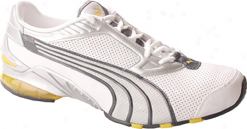 Puma Alacron L (men's) - White/metallic Silver/new Navy