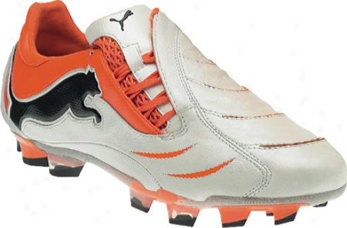 Puma Powercat 1.10 Fg (men's) - White/black/team Orange
