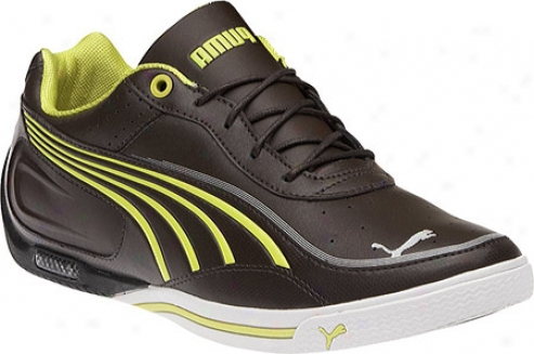 Puma Sl Street Lo Nm Basic (men's) - Chocolate Brown/fluo Yellow
