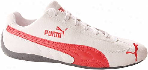 Puma Speed Cat Sd (men's) - Vapor White/flame Scarlet
