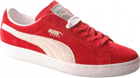 Puma The Suede (men's) - Ribbon Red/white