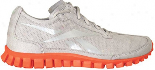 Reebok Realflex Run Suede (men's) - Carbon/blazing Orange