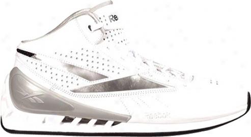 Reebok Super Fresh (men's) - White/athletic Navy/silver