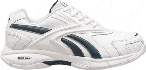 Reebok Versa Comfort Stripe (men's) - White/athoetic Navy/platinum