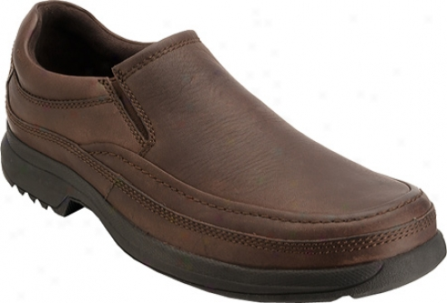 Rockort Barrows Loft Moc Slip On (men&#039;s) - Dark Brown Full Grain Leather