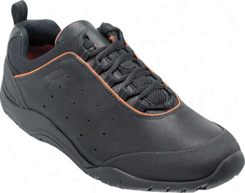 Rockporr Barsha (men's) - Black Full Grain Leather
