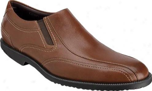 Rockport Dressports Tw Slip On (men's) - Dark Tan Quite Grain Leather