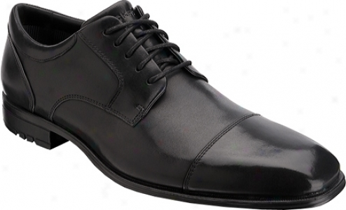 Rockport Fairwood Captoe Wp (men's) - Black Waterproof Full Grain Leather
