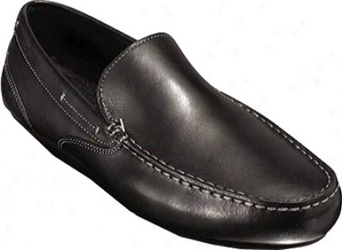 R0ckport Glenway (men's) - Black Full Grain Leather