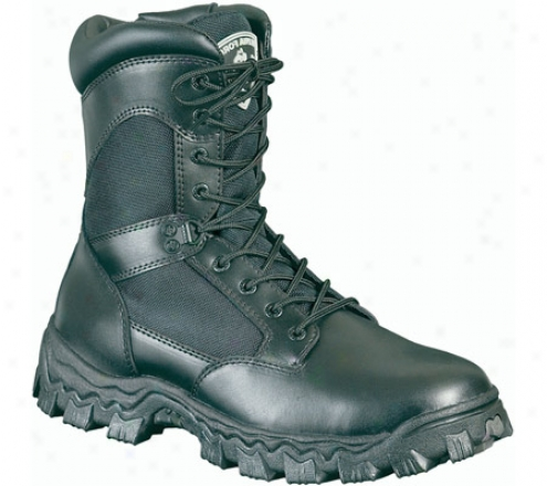 """rocky 8"""" Alphaforce 2165 (men's) - Black Leather"""