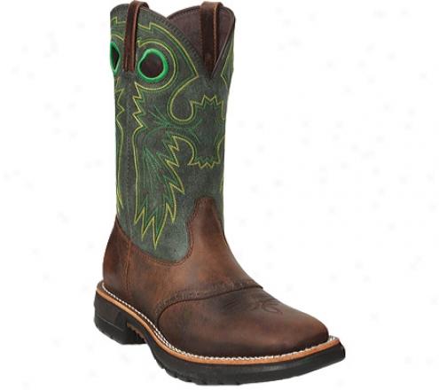 """Obdurate Original Ride Steel Toe Western Boot 11"""" 6026 (men's) - Brown/green"""